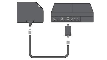 How do you hook up a digital antenna