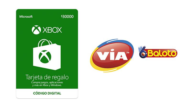 Recarga Xbox Live en los más de 10.000 puntos de la red VIA Baloto