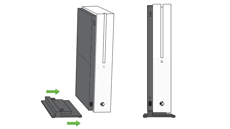 Using The Vertical Stand For The Xbox One S Console