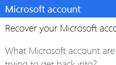 Recover your Microsoft account username