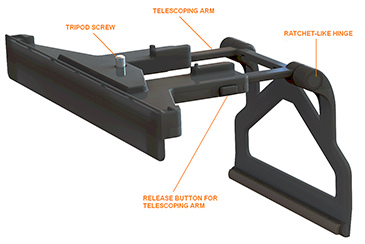 Kinect sensor mounts for xbox one ratchet like hinge this is used to secure the mount tightly to the top of your tv ccuart Gallery
