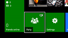 Starte et party på Xbox One