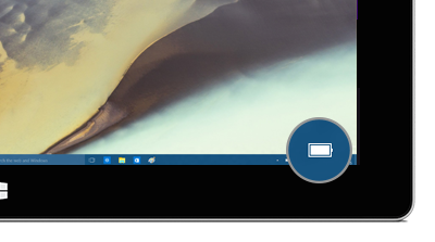 Battery icon in the taskbar