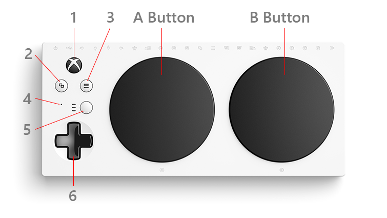 The face of the Xbox Adaptive Controller
