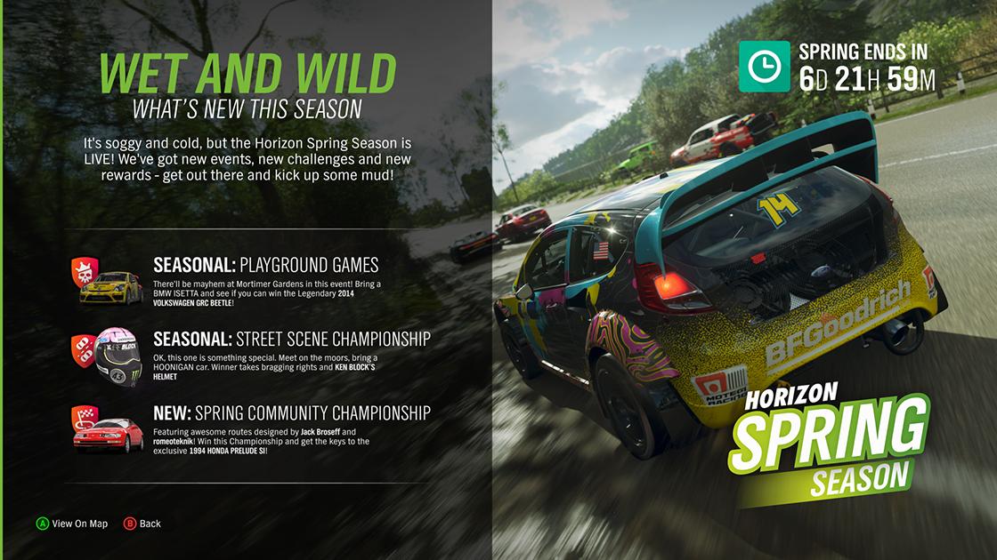 Spring season #Forzathon Shop, events and rewards through March 14