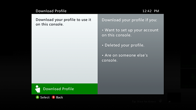 Add Or Remove Xbox Profile On An Xbox 360 Console
