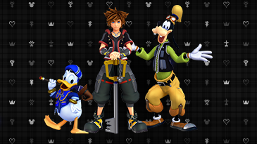 Iconic characters from the games are featured