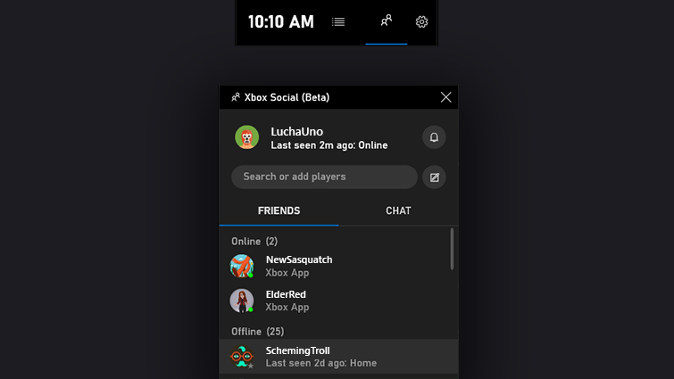 Use Xbox Game Bar to Play and Chat with Friends