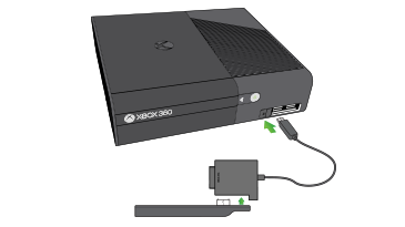 Arrows show connecting the Original Xbox 360 Hard Drive