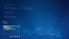 Windows 7: Xbox 360 で Windows Media Center を設定する