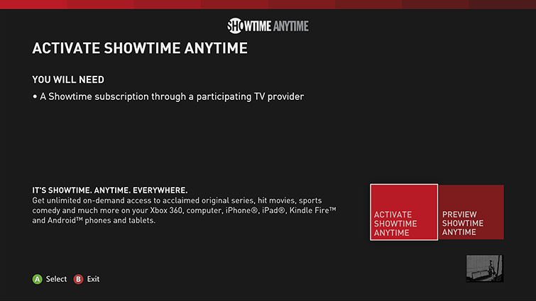 Showtime Anytime/activate