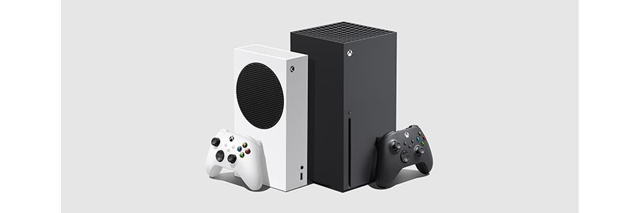 Xbox one x console on a shelf