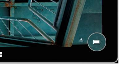 Icône de la batterie dans l'écran de verrouillage