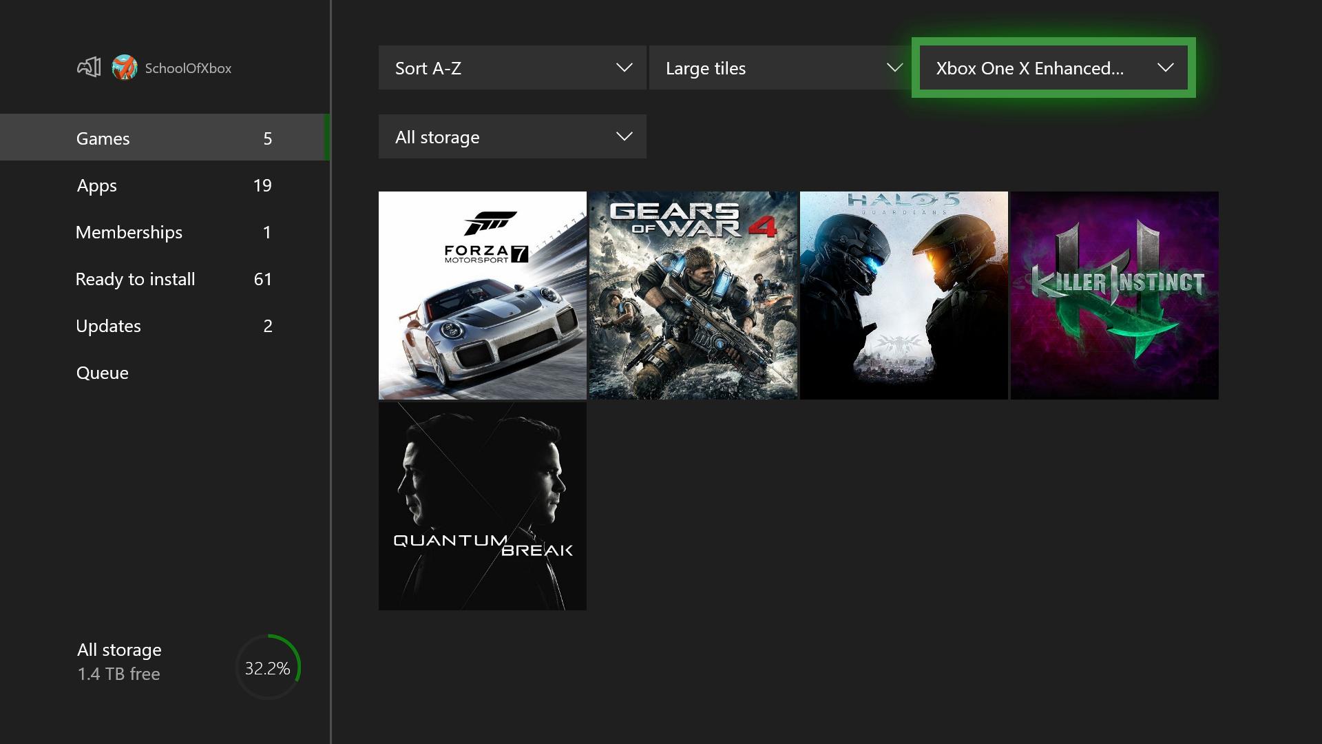 Como Se Si Mis Juegos Estan Actualizados Para Xbox One X