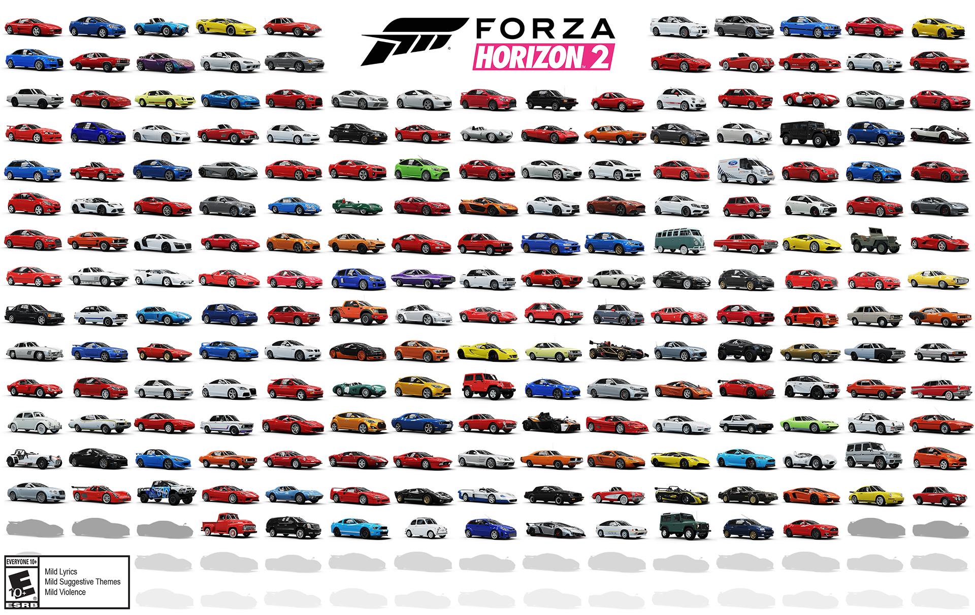 Forza Horizon 2 Cars Revealed