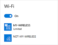 Wireless network has limited connectivity