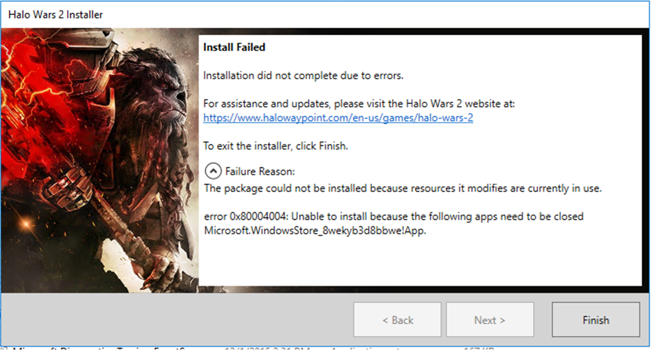How to install Halo Wars 2 from Windows 10 disc