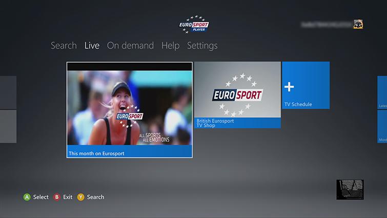 Eurosport Player Xbox One