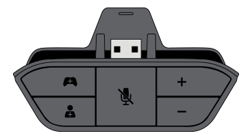 An illustration of the Xbox One Stereo Headset Adapter