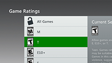 Game rating systems used by the Xbox 360 console