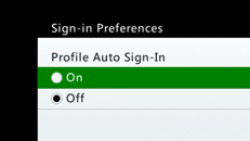 Deshabilitar la característica de inicio de sesión automático en Xbox 360
