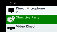 Xbox Live Party -keskustelut Xbox 360 -konsolissa