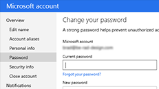 Change your Microsoft Account password