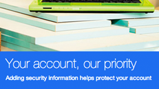 Microsoft account security information overview