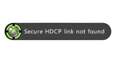 """Secure HDCP link not found"" error when playing a DVD or streaming a Netflix film on Xbox 360"