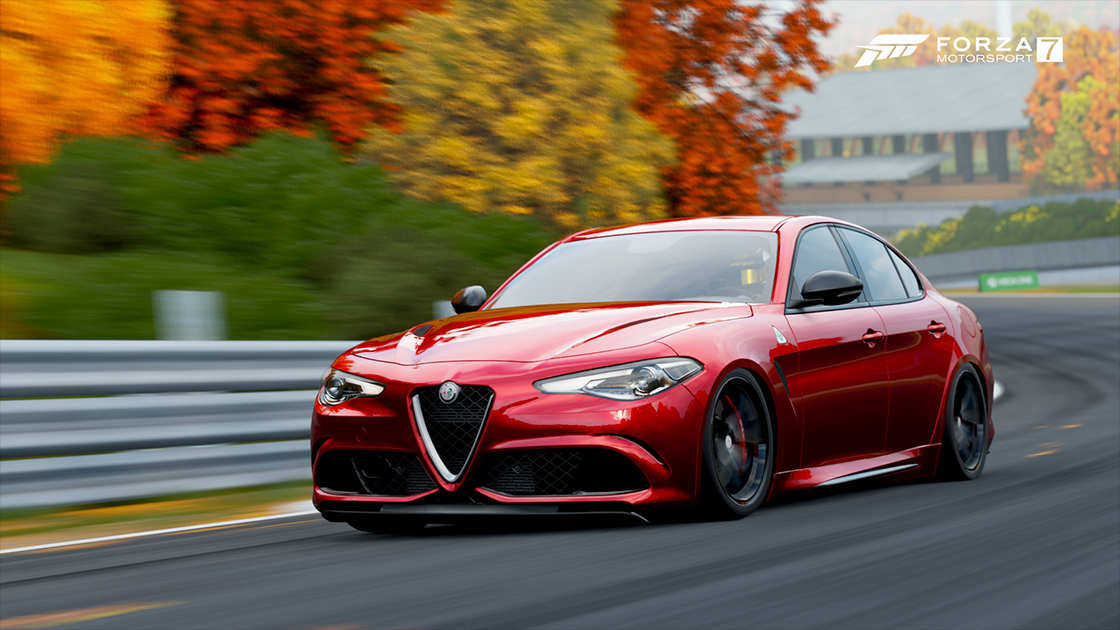 To The Latest Giulia Quadrifoglio Verde Model That Just Came Out In Samsung Qled Car Pack For Forza Motorsport 7 Alfa Romeo Has Always Delivered