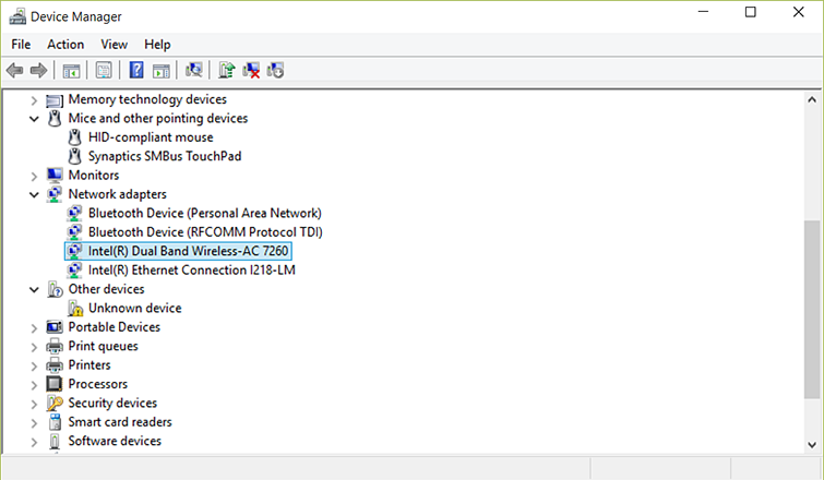 A Device Manager windows shows 'Network adaptors' expanded and a wireless adaptor selected.