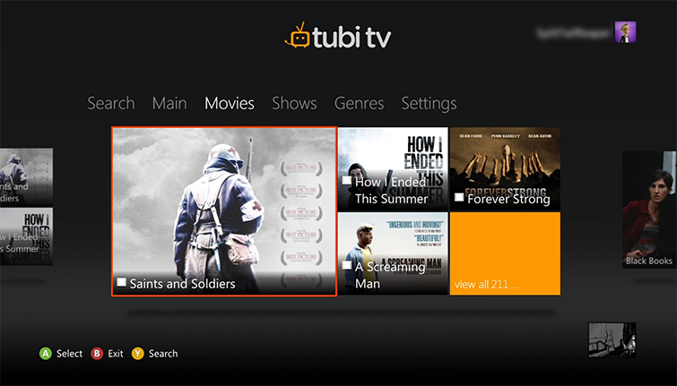 Set up and use the tubi tv app on xbox 360 the hub to the right of the main hub is the movies hub browse for a movie to watch ccuart Images