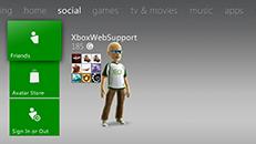 Cenário social do Xbox Live