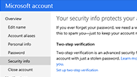 My account security