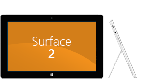 Front and side view of Surface 2