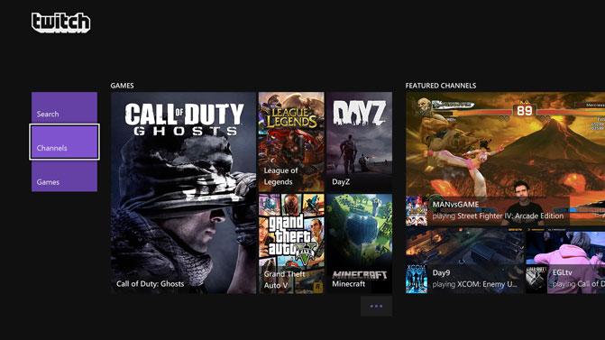 Twitch screen on Xbox One