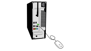 A drawing shows the Xbox 360 Wireless Gaming Receiver being plugged in to a USB port on the back of a desktop computer.