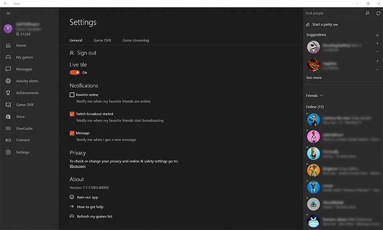 How to Manage Your Activity Feed in the Xbox App on Windows 10