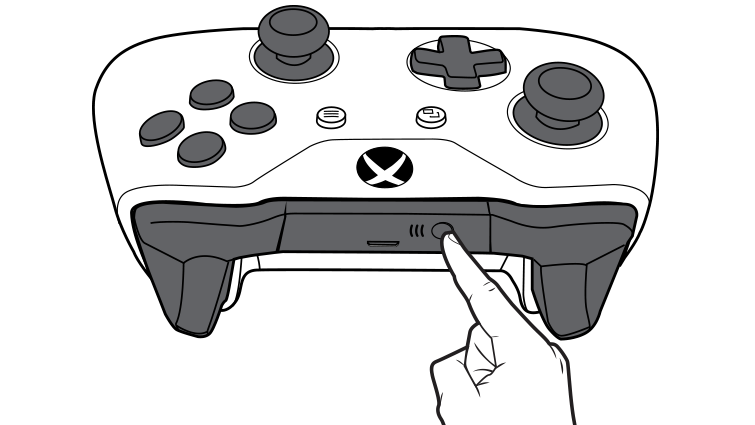 An illustration shows the connect button on the Xbox Wireless Controller.
