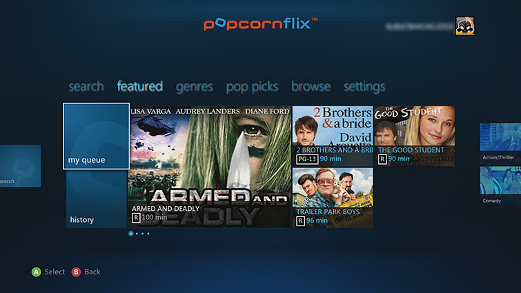 set up popcornflix app on xbox 360