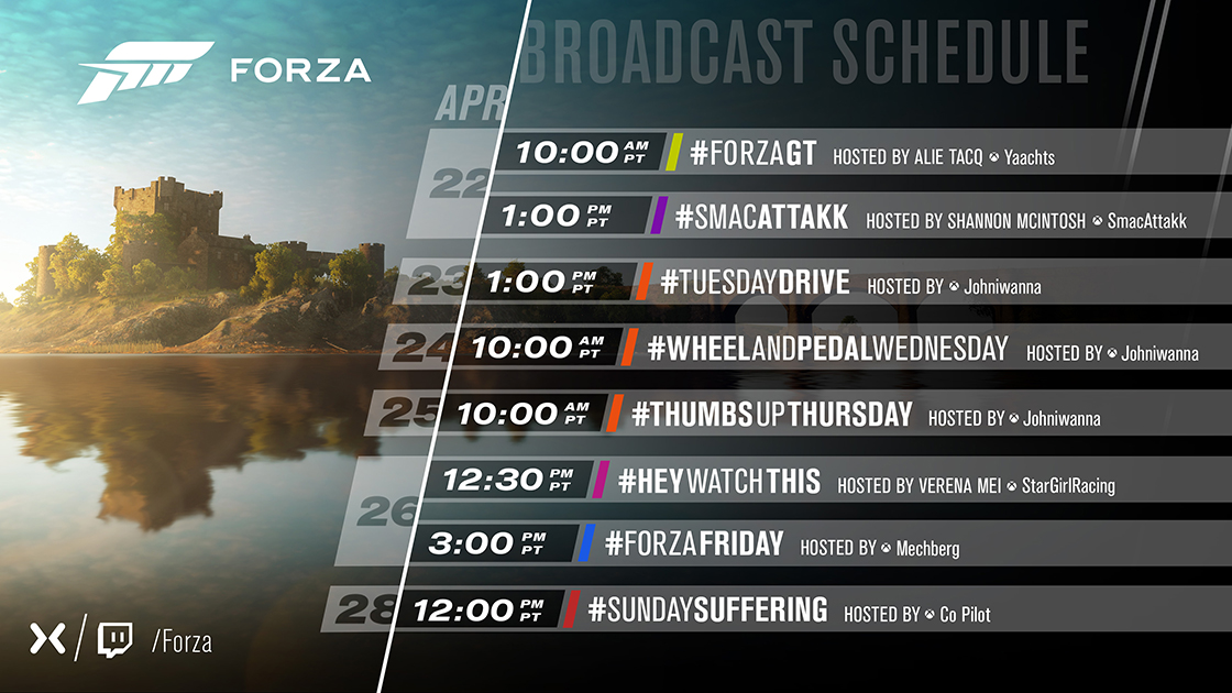 News, livestreams, and Calendar for FH4 - Page 6 - Forza
