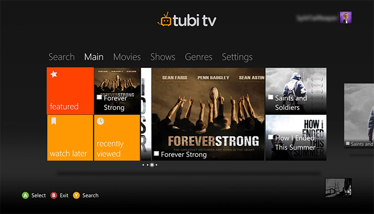 Set Up and Use the Tubi TV App on Xbox 360