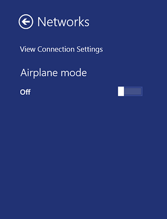Wi-Fi settings missing