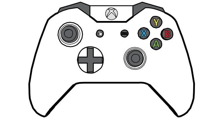 Game Controller Control Coloring Pages Coloring Pages