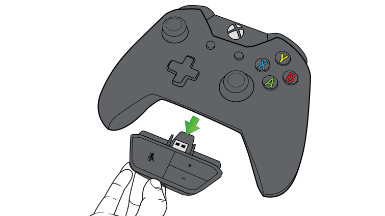An illustration shows the headset controls being unplugged from the controller.