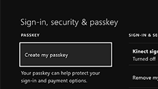How to create an Xbox One passkey