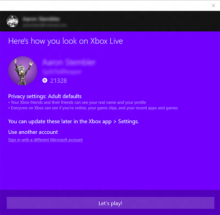 How to sign in to the Xbox Console Companion app on Windows 10