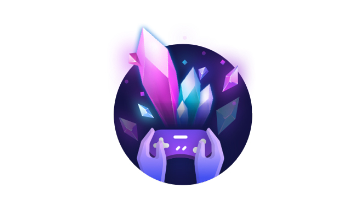 Purple geode and controller logo