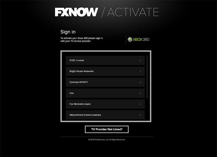 FXNOW App | Set up the FXNOW App on Xbox 360 | Xbox 360 Apps