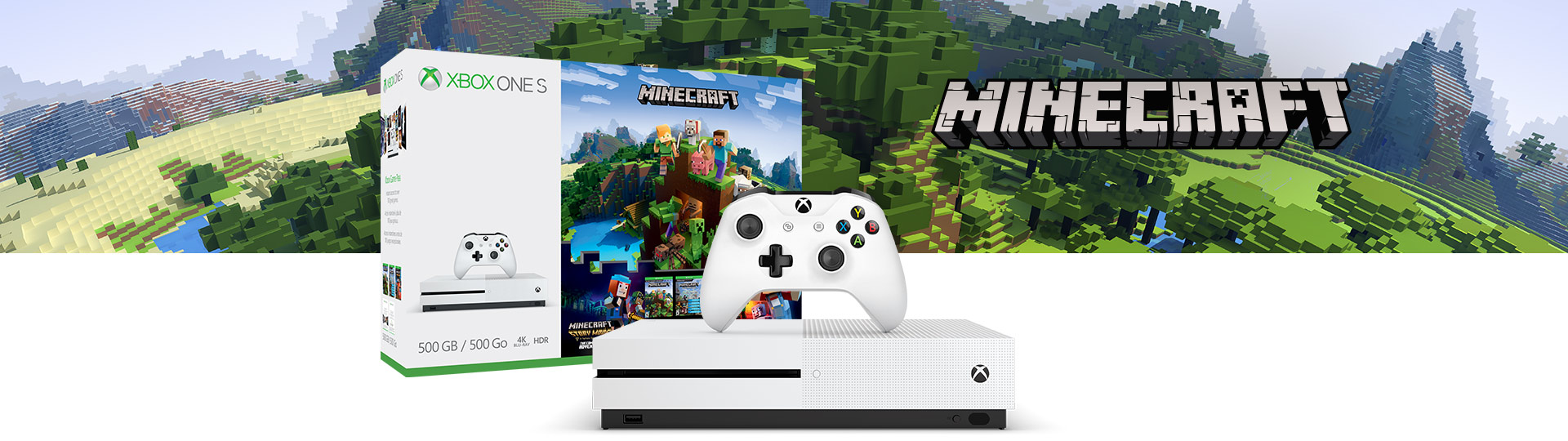 Xbox One S Minecraft Complete Adventure Bundle (500 GB)
